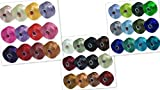 S-Lon Beading Thread Mixture Colors Size D - Neutrals Mix, Flower Colors and Blues and Greens Mix - 36 Colors Total by B