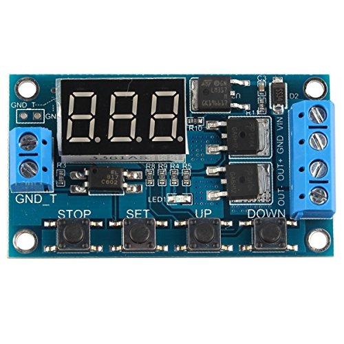 DollaTek Trigger Cycle Timer Delay Switch Circuit Dual MOS Tube Control Board DC 24V / 12V Relaismodul ersetzen - Dc Motor Control Circuit