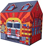 Charles Bentley Kids Fire Station Play Tent Children Fireman Firefighter Playhouse Den