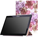 MoKo Lenovo Tab2 A10-70 Funda - Ultra Slim Lightweight Smart-shell Stand Cover Funda para Lenovo Tab2 A10-70 10 inch 2015 Version, Floral Violeta