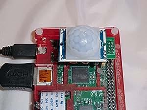 Détecteur de mouvement PIR & clip GPIO pour Raspberry Pi. se connecte directement à GPIO HC-SR501 Détecteur de 4 mm. module envoie des signaux sur GPIO4. Compatible avec Raspberry Pi A et B, A, B & Pi modèle B 2.