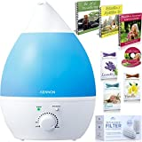 Premium Cool Mist Ultrasonic Humidifier w/ Aroma Essential Oil Diffuser