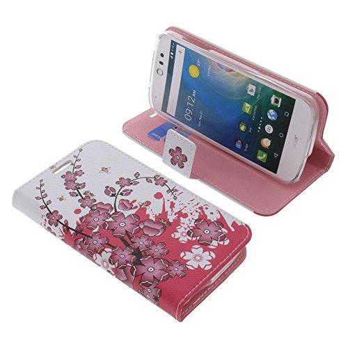 foto-kontor Tasche für Acer Liquid Z530 Liquid M530 Book Style lila Blüten Schutz Hülle Buch