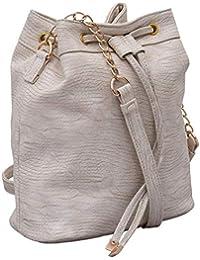 Beau Design Bags Women's Cream PU Sling Bag For Women's