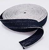 Tissu d'ameublement en toile, à chevrons Coton Noir/Blanc, Jute traditionnel 33m–1m, noir/blanc, 33m