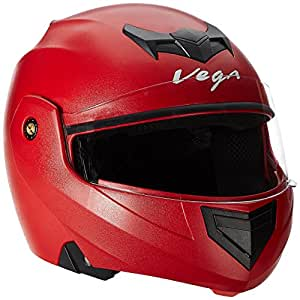 Vega Crux CRX-R-M Flip-up Helmet (Red, M)