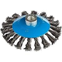 2pieza conos de alambre Cepillos Diámetro 115mm gezopfte lija Cepillo M14x 2Cepillo de alambre