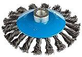 2 pezzi, spazzole coniche a filo metallico, diametro 115 mm, spazzole a filo ritorto M14, 2 spazzole a filo metallico