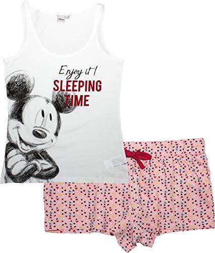 Minnie Mouse Damen Kurz Pyjama Schlafanzug (Minnie Maus Damen Shirt)