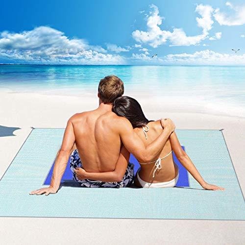 Letilio Beach Rugs - Tappetino da Picnic Anti-Sabbia, Resistente all'Acqua Coperta da...