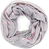 ManuMar Loop-Schal für Damen | Hals-Tuch mit Punkte-Motiv als perfektes Sommer-Accessoire | Schlauch-Schal - Das ideale Geschenk für Frauen