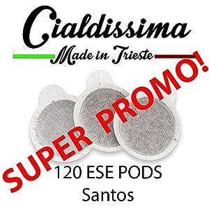 Cialdissima 120 ESE Pods - Santos taste
