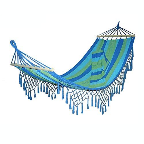 CFR&Hammock Einzel- und Doppel-Camping-Hängematte, Anti-Rollover-Hängematte aus Segeltuch, dick hängend belüftet, Balkon Gartenschaukel Camping, Indoor Wild Adult Children210 * 100cm,b