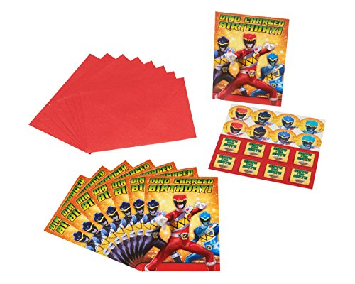 (American Greetings Power Rangers Dino Charge Invite Postcards, (8 Count))