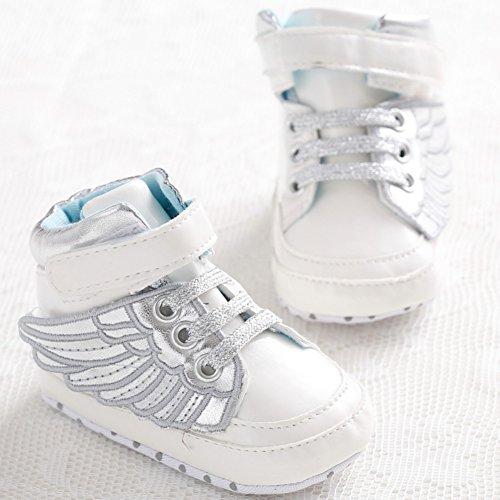 Etrack-Online  Baby Sneakers, Baby Jungen Lauflernschuhe Silber