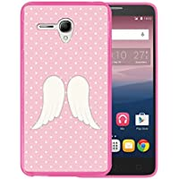 Funda Alcatel OneTouch Pop 3 5.5, WoowCase [ Alcatel OneTouch Pop 3 5.5 ] Funda Silicona Gel Flexible Alas de Angel, Carcasa Case TPU Silicona - Rosa
