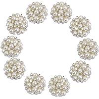 Ark-Perline a LEORX decorativi, strass e perline decorate 10 pezzi
