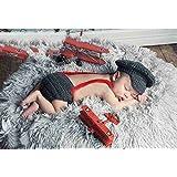 DAYAN Bébé Costume Police Chaussures couche Photographie Prop Doux Crochet Crochet Bonnet Fille