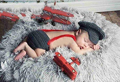 ostüm Windel Schuhe Fotografie Prop Süss Crochet häkeln Strickmütze Hut Cap (Häkeln Baby Kostüme)