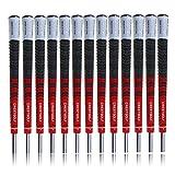 Crestgolf Multi-Compound Golf Griff für Golfschläger mit, Rutschfest, Baumwolle mit-midsize Standard-Größe mit, rot, Midsize