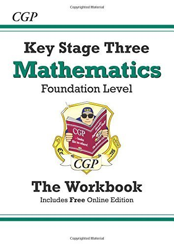 KS3 Maths Workbook (with online edition) - Foundation: Workbook (Without Answers) - Levels 3-6 by CGP Books (1999) Paperback