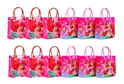 Disney Princess Ariel Little Mermaid Party Favor Gift Bag - 8 Mid Size (12 Packs) by GoodyPlus (Ariel Little Mermaid Party)
