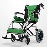 qianqian Telaio Leggero Pieghevole in Lega di Alluminio Persona a disabilità Viaggi Portatile Scooter traghetto Sedia a rotelle