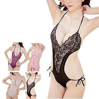 Sexy Lingerie, Rcool Women Girls Sexy Underwear Bodysuit Chest Open Lingerie Pajamas Uniform Ladies Charm Sexy Wild Temptation Three Point Harness Perspective Underwear