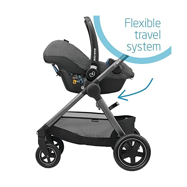 Maxi-Cosi Rock Baby Car Seat Group 0+, ISOFIX, i-Size Car Seat, Rearward-Facing, 0-12 m, 0-13 kg, Sparkling Grey Maxi-Cosi Baby car seat, suitable from birth to 13 kg (birth to 12 months) Enhanced safety: This Maxi-Cosi car seat complies with the i-Size (R129) car seat legislation Baby-hug inlay of this Maxi-Cosi i-Size car seat offers a better fit and laying position for newborns 7