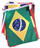9.5M Guirnaldas Copa Mundial De La FIFA Brasil 2014 Fútbol Internacional Bandera 20cm x 28cm