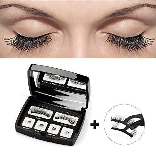 Magnetische Wimpern, BSiegel Wimern Set Künstliche Falsche Wimpern 3D Widerverwendbare Magnetic False Eyelashes + Edestal Wimpern Applikator Pinzette