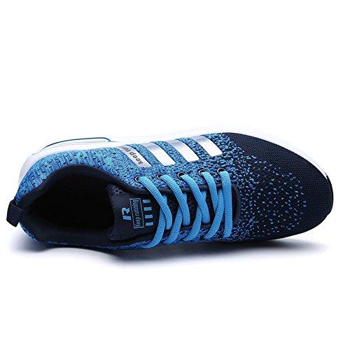Xianv Men Casual Shoes Primavera Estate Meshed Beloved Unisex Flying Fabric Light Moda Traspirante Scarpe Da Uomo Blu