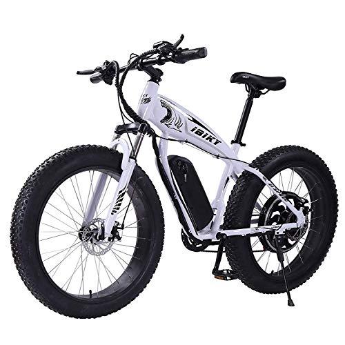 Bicicleta eléctrica de montaña HR de 26 pulgadas, neumáticos de nieve, bicicleta eléctrica, 21 marchas...