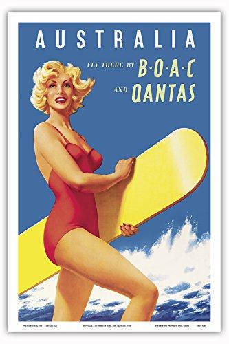 australia-con-diseno-de-tres-ninos-boac-diseno-britanico-en-el-extranjero-compania-y-qantas-de-la-ve