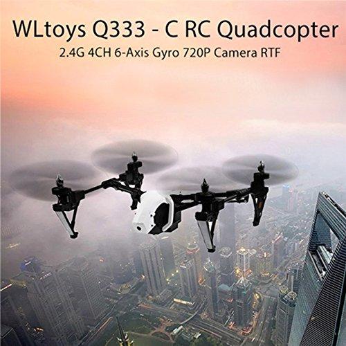 Wltoys Q333A FPV Drohne mit Kamera und Bildschirm 5.8G Live Übertragung Monitor 720P Cam Headless Modus für Erfahrener, mit 4G Speicherkarte, Garantie, 2 Akkus, Deutsche Anleitung, Weiß - 2