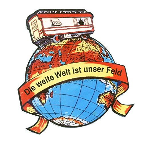 Die weite Welt ist unser Feld Aufkleber digital 30cm x 30cm inkl. Schutzlaminat zur Aussenanbringung LKW etc.