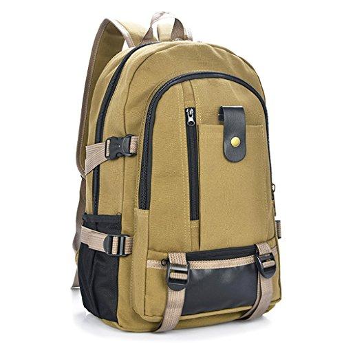 Imagen de magideal bolsa de viaje bolso de almacenamiento  de lona con cremallera  ocasional para deportivos de al aire libre senderismo  amarillo tierra