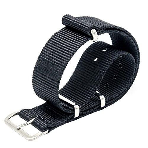 149e66f9fd7 Cinturino Orologio 18mm 20mm 22mm Premium Ballistic Cinturino in Nylon  Cinturino Nato Swiss Zulu Cinturino Fibbia