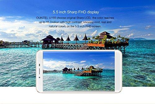 Oukitel U15S - Android 6.0 4G smartphone 4GB RAM 32GB Octa Core 1.5GHz 5.5 pulgadas FHD IPS Pantalla 8MP + 16MP cámara huella digital Ultra delgado - Gris