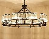 MULANG Araña de cristal americana, luz de la sala de estar, lámpara moderna del dormitorio del restaurante del país, lámparas del hierro, lámpara pendiente decorativa , E