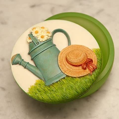 L'Eau peut marguerites Souvenir peint à la main boîte à bijoux/Boîte à bijoux par Ibis & Orchid Design