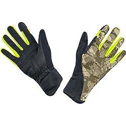 GORE BIKE Wear Guantes de Hombre para ciclismo urbano, GORE WINDSTOPPER, ELEMENT URBAN PRINT Gloves, Talla 8, Camuflaje/Negro, GWELEU989906