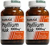 (2 Pack) - HealthAid - Psyllium Husk 1000mg | 60 Vegicaps | 2 PACK BUNDLE