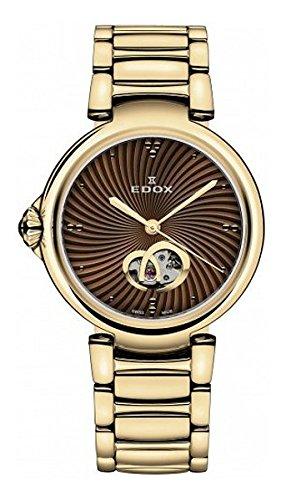 Edox Women's 85025 37RM BRIR LaPassion Analog Display Swiss Automatic Rose Gold Watch