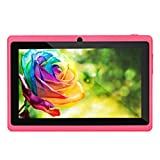 7Inch 1GB + 8GB Dual Core Tablet , / Google Android 4.4 Duad Core Tablet PC 1GB + 8GB Dual Camera Wifi Bluetoot (Red)
