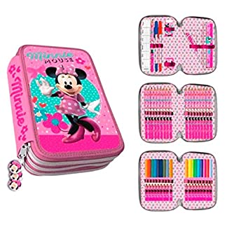 Plumier 3 Cremalleras Minnie Mouse Clamshell 20x13cm