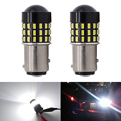 Katur Lot de 2ampoules LED de rechange super lumineuses pour objectifs 1156BA15S 7506107310951141301454SMD et feux stop arrière 3.1W DC 12V Blanc
