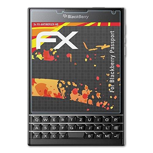 atFolix Schutzfolie kompatibel mit BlackBerry Passport Displayschutzfolie, HD-Entspiegelung FX Folie (3X)