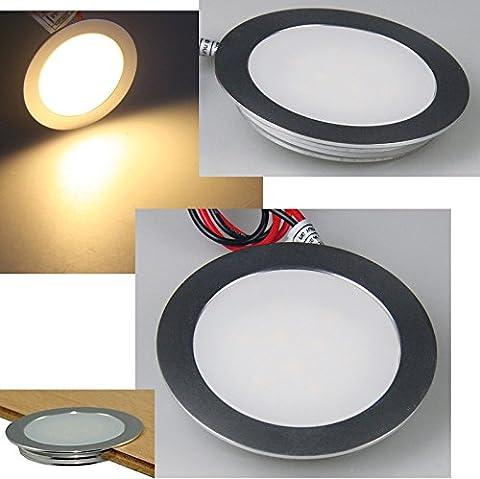 6er Set / IP67 / 12Volt / Einbaustrahler Tom / LED / Für Wand, Boden und Decke geeignet / Warmweiß / 0.9Watt / Begehbar