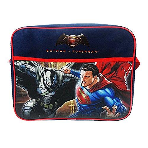 Batman V Superman - Borsa Ufficiale tipo Messenger - Bambini (Taglia unica) (Blu Navy/Rosso)